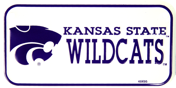 2317 - Kansas State Wildcats Bike Plate
