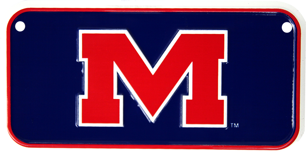 2324 - Ole Miss Rebels Bike Plate