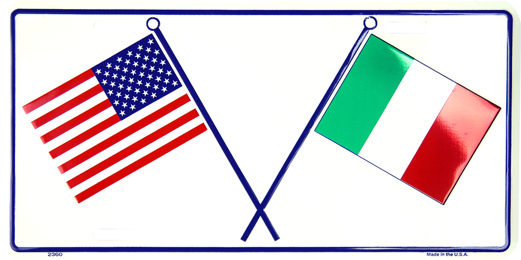 2360 - USA & Italian Flags