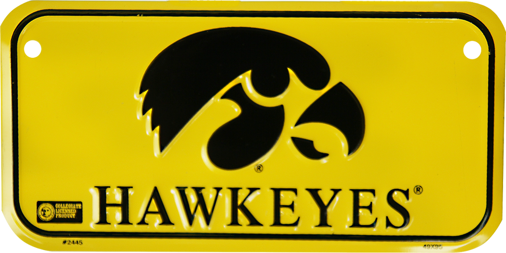 2445 - Iowa Hawkeyes Bike Plate