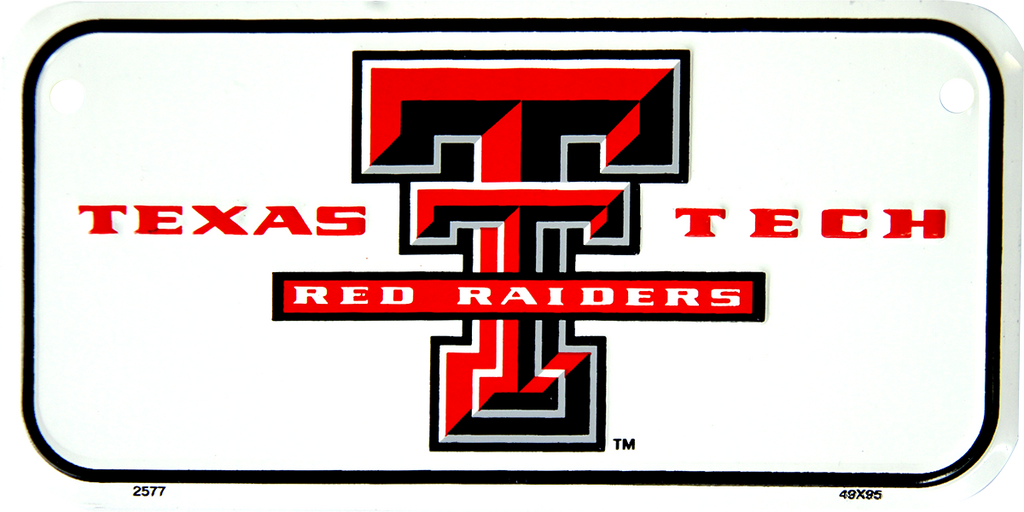 2577 - Texas Tech Bike Plate