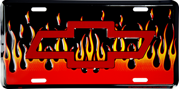 2593 - Chevrolet Bow Tie with Flames