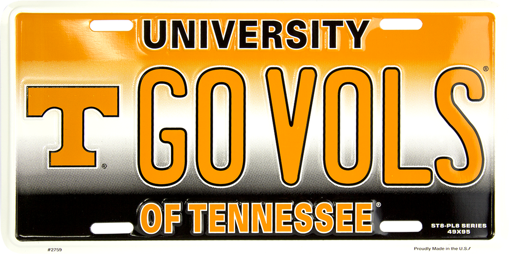 2759 - Tennessee Volunteers GO VOLS ST8-PL8