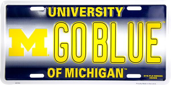 2763 - Michigan Wolverines GO BLUE ST8-PL8