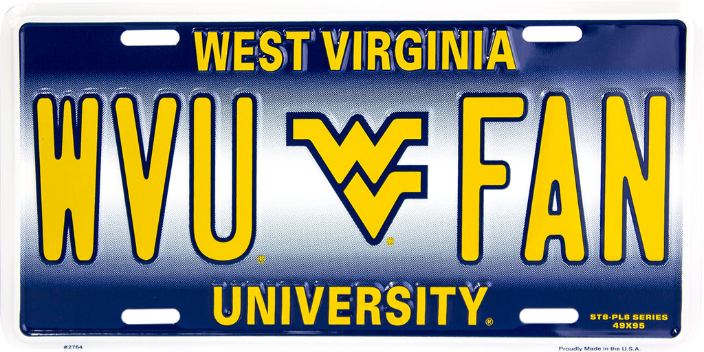 2764 - West Virginia Mountaineers WVU FAN ST8-PL8