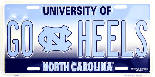 2766 - North Carolina Tar Heels GO HEELS ST8-PL8