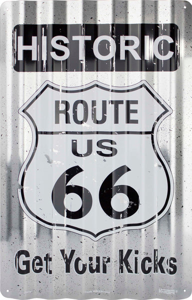 COR32003 - Historic Route 66 Get Your Kicks Corrugated Signs