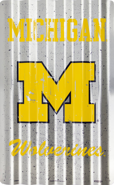 COR32014- Michigan Wolverines Corrugated Signs