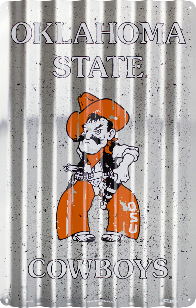 COR32020- Oklahoma State Cowboys Corrugated Signs