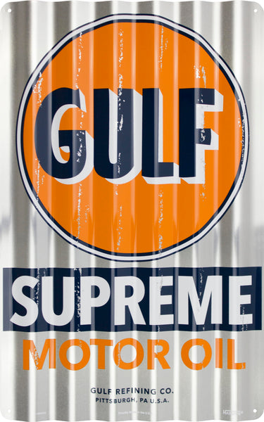 COR32028 - Gulf Supreme Motor Oil Corrugated Signs