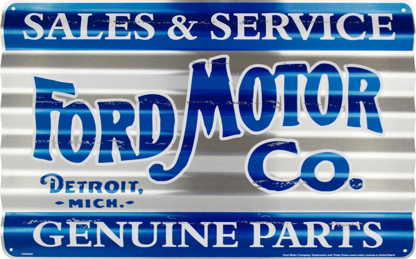 COR32029 - Ford  Sales & Service Genuine Parts Corrugated Sign