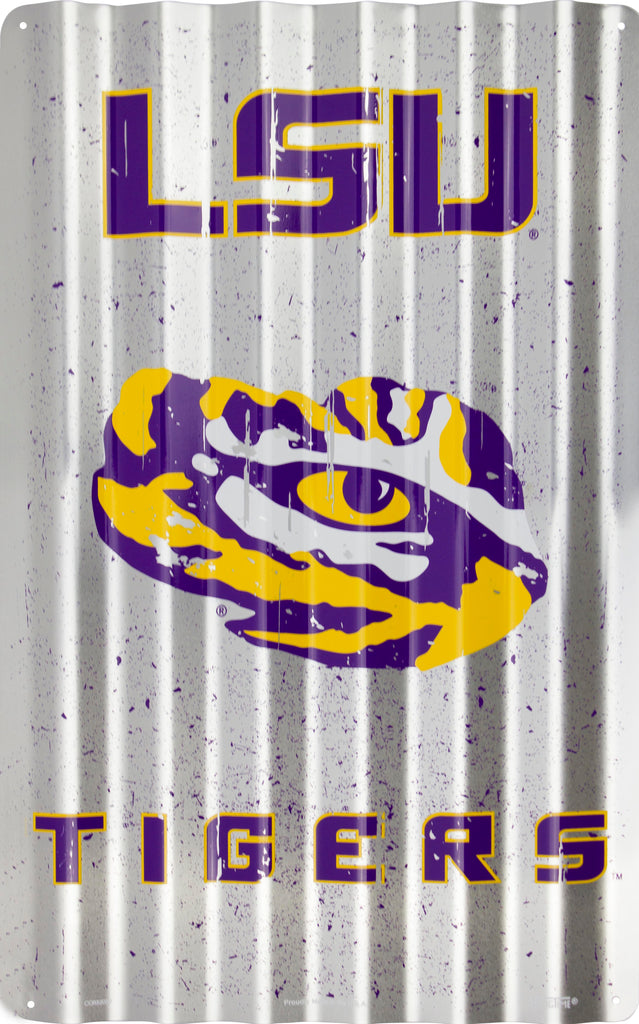 COR32030- LSU Tigers Corrugated Signs