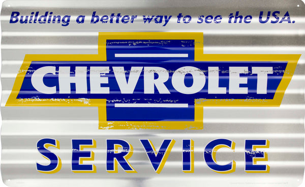 COR32033- Chevrolet Service Corrugated Signs