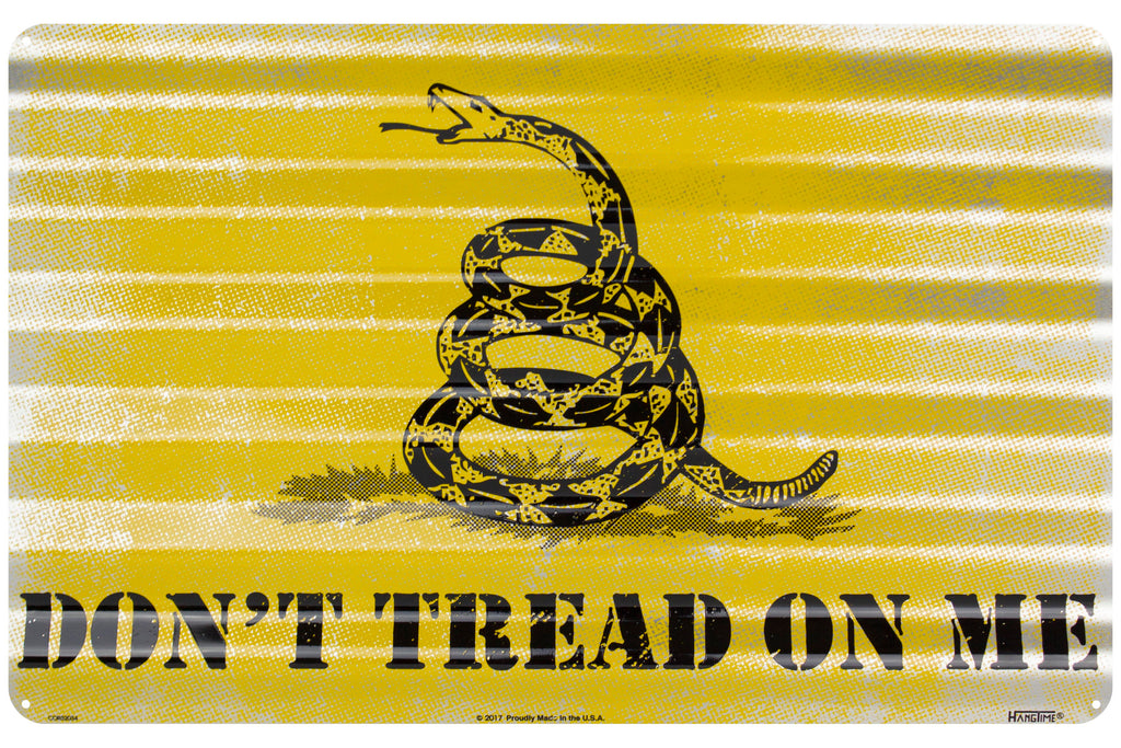 COR32034 - Don't Tread on Me Corrugated Sign
