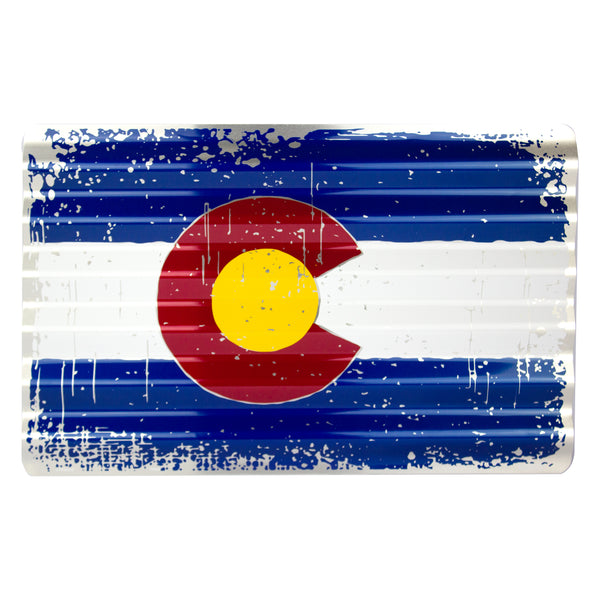 COR32036 - Colorado Flag Corrugated Sign