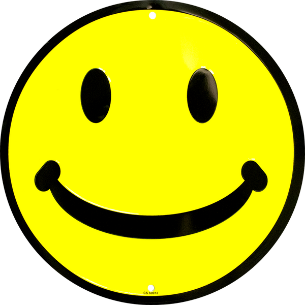 CS60013 - Smiley Face Circle Sign