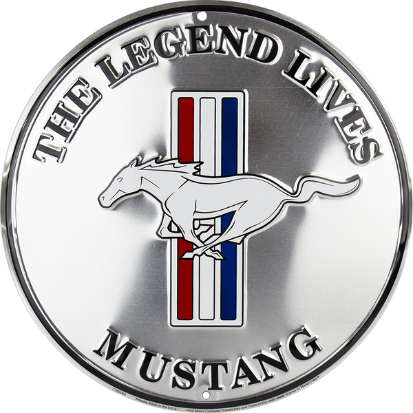 "CS60063 - Ford Mustang ""The Legend Lives"" Circle Sign"