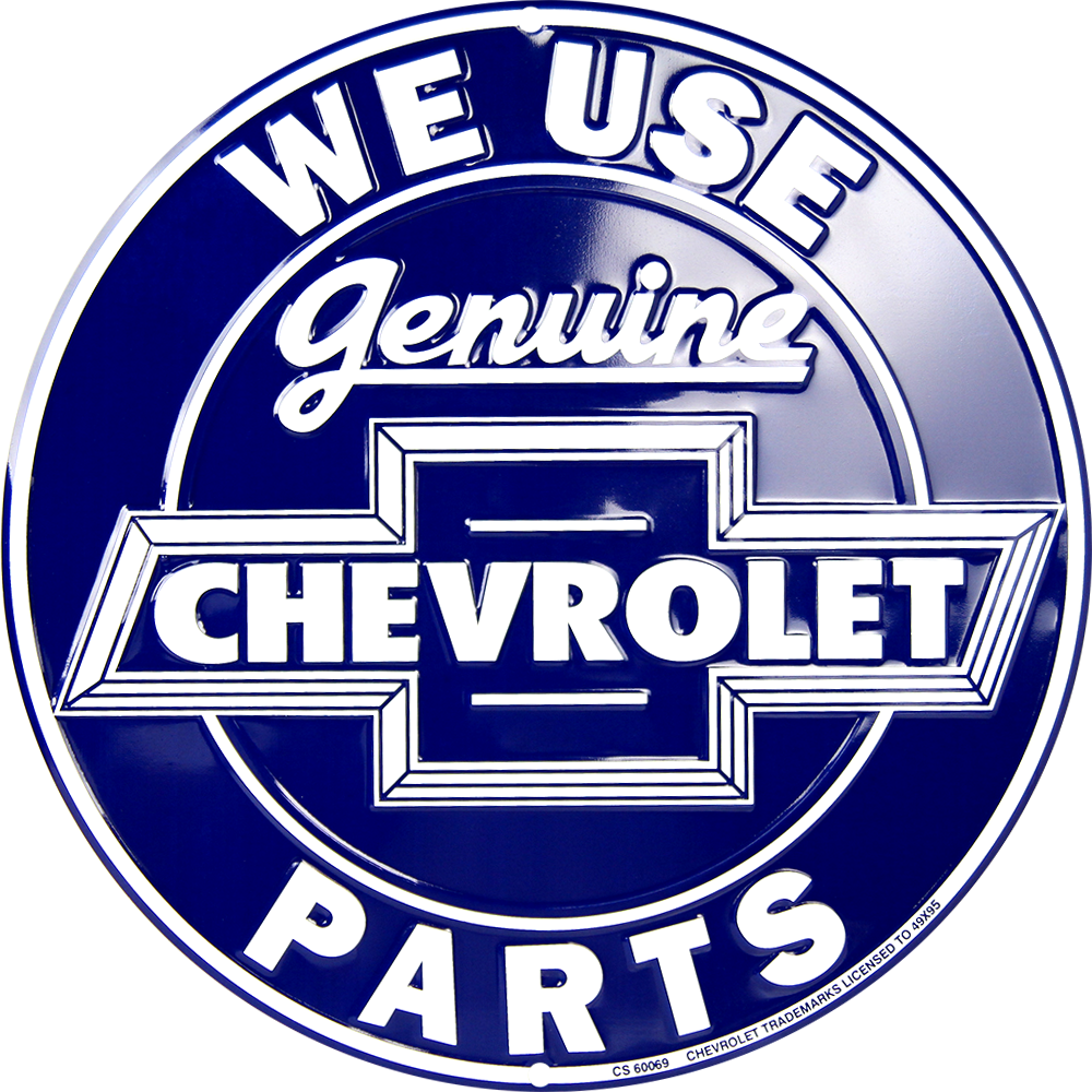 CS60069 - Genuine Chevrolet Parts Circle Sign