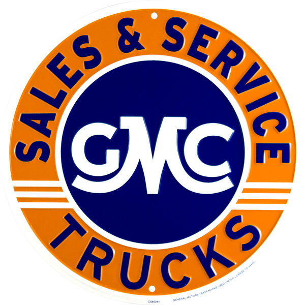 CS60084 - GMC Trucks Sales and Service Circle Sign
