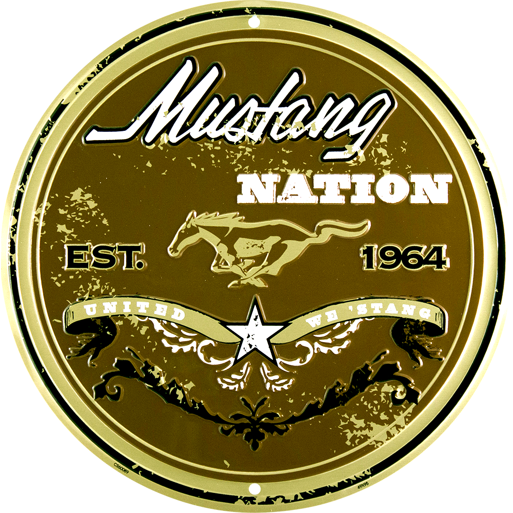 CS60089 - Mustang Nation Circle Sign