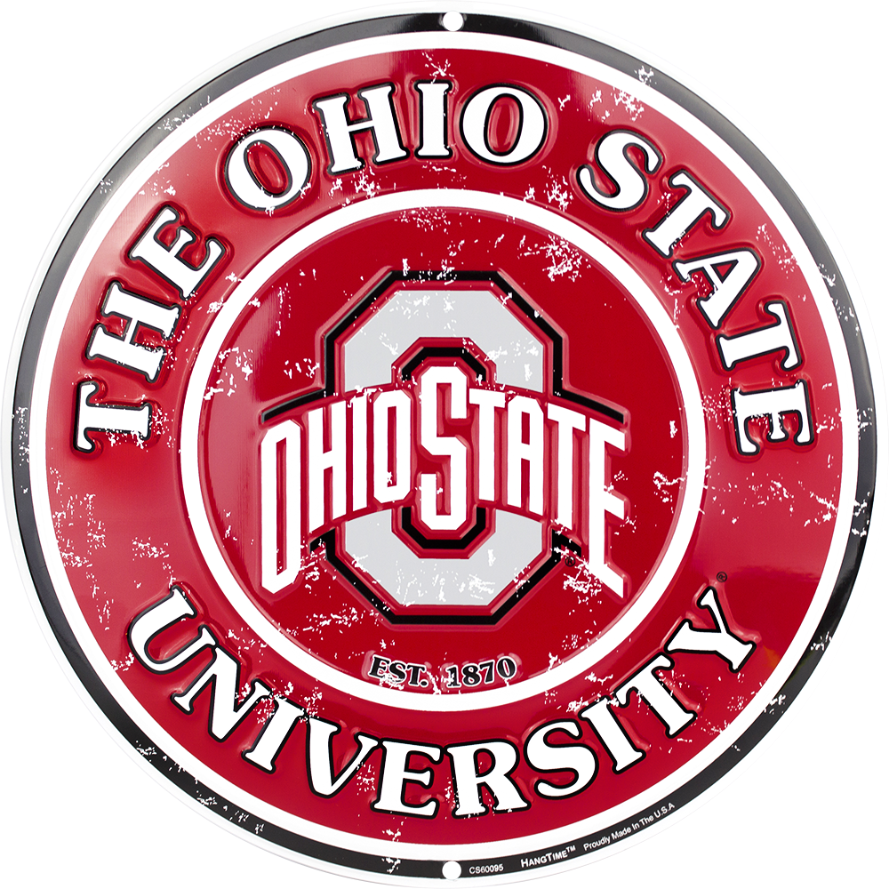 CS60095 - Ohio State Buckeyes Circle Sign