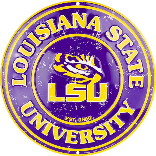 CS60096 - LSU Tigers Circle Sign
