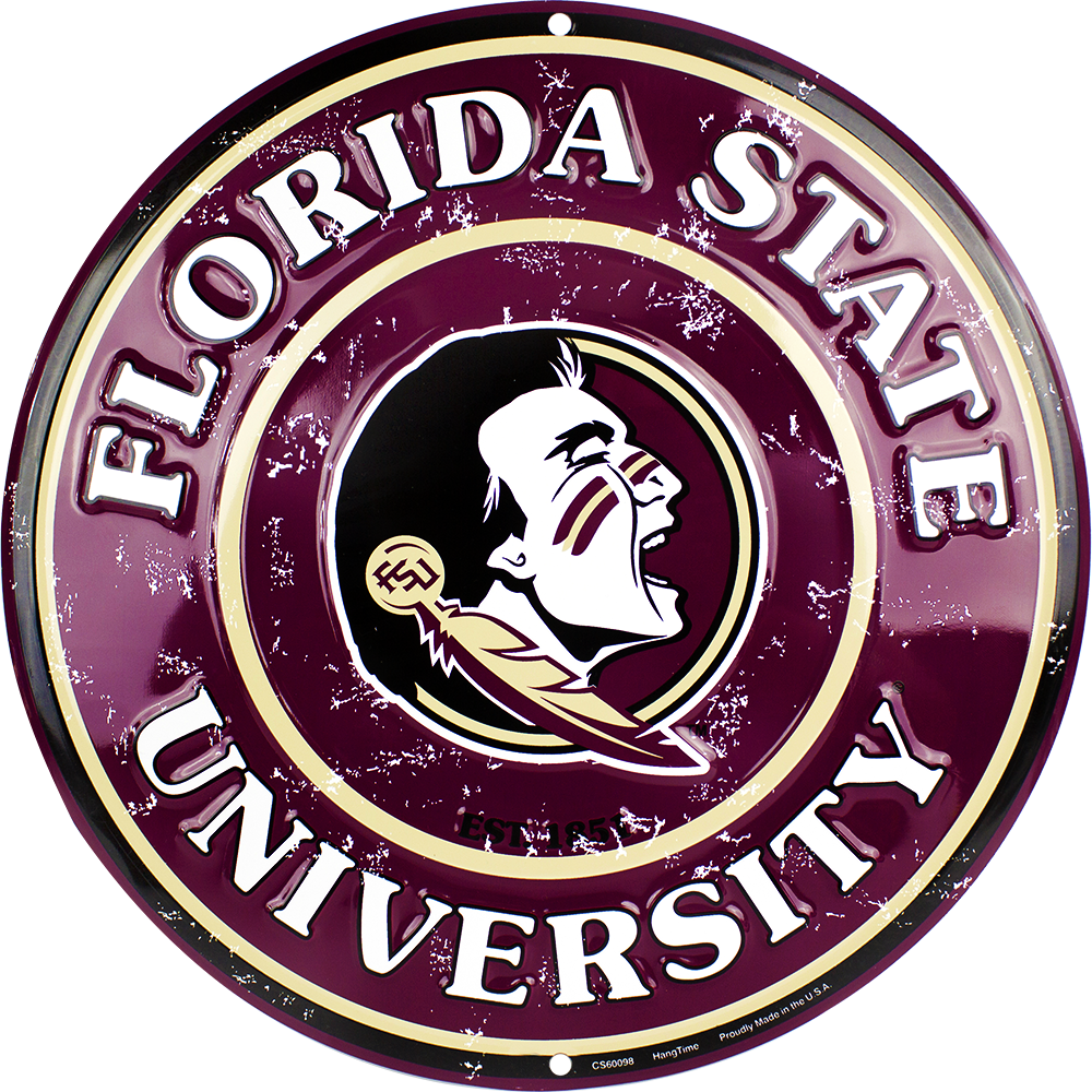 CS60098 - FSU Seminoles Circle Sign