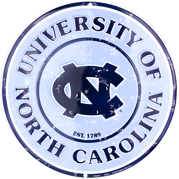 CS60101 - North Carolina Tar Heels Circle Sign