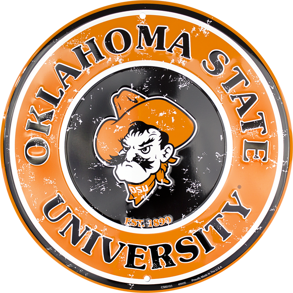 CS60103 - Okahoma State Cowboys Circle Sign