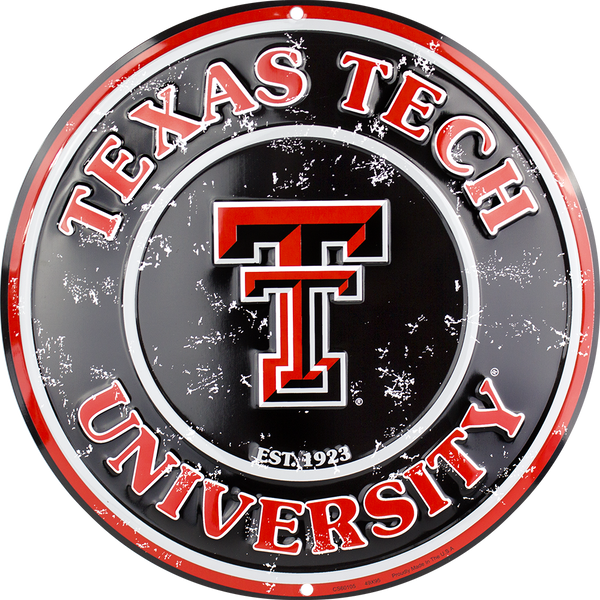 CS60105 - Texas Tech Red Raiders Circle Sign