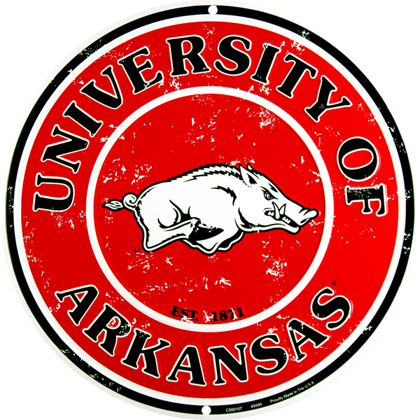 CS60107 - Arkansas Razorbacks Circle Sign