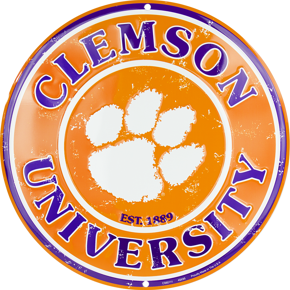 CS60111 - Clemson Tigers Circle Sign
