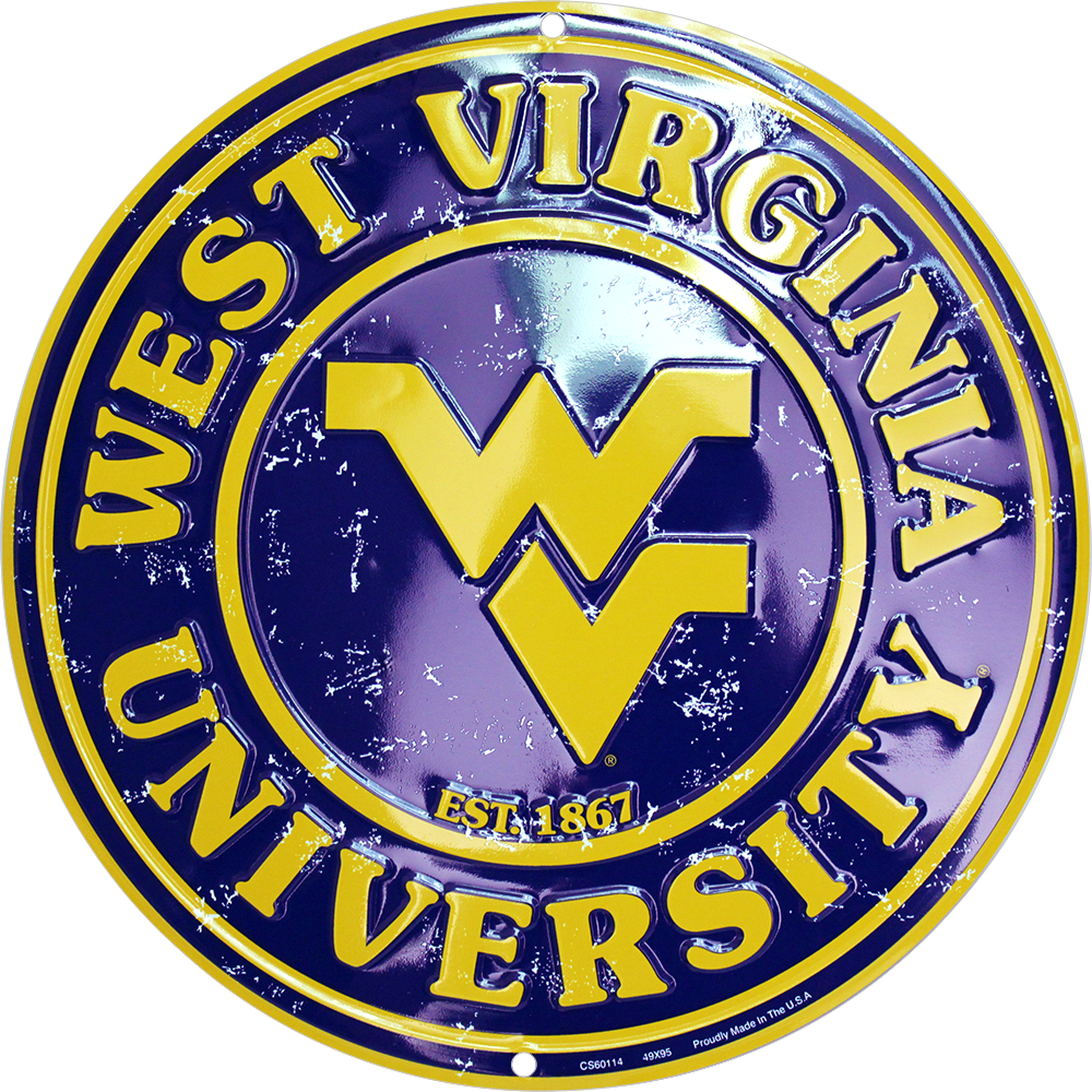 CS60114 - West Virginia Mountaineers Circle Sign