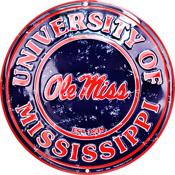 CS60115 - Ole Miss Rebels Circle Sign
