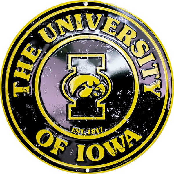 CS60116 - Iowa Hawkeyes Circle Sign