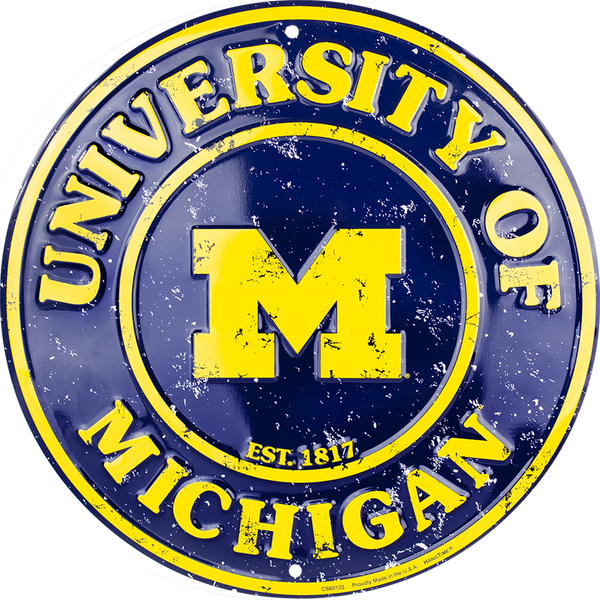 CS60122 - Michigan Wolverines Circle Sign
