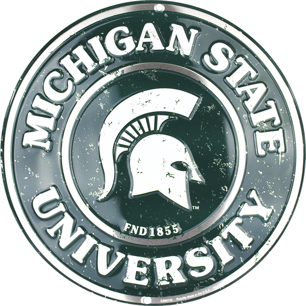 CS60123 - Michigan State Spartans Circle Sign