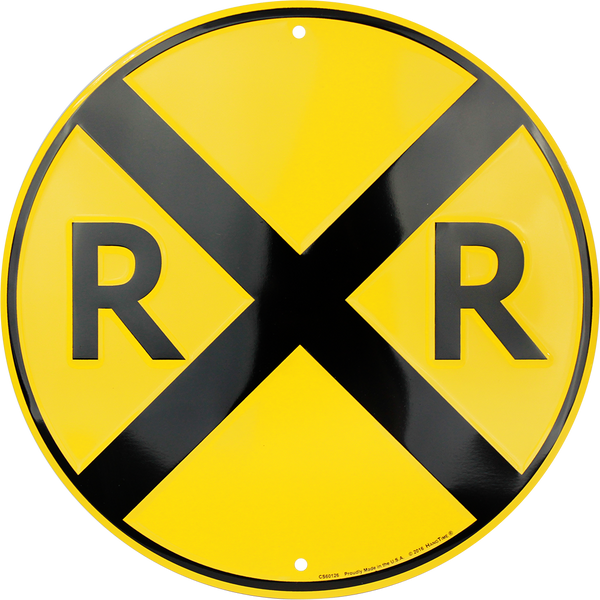 CS60126 - Railroad Crossing Circle Sign