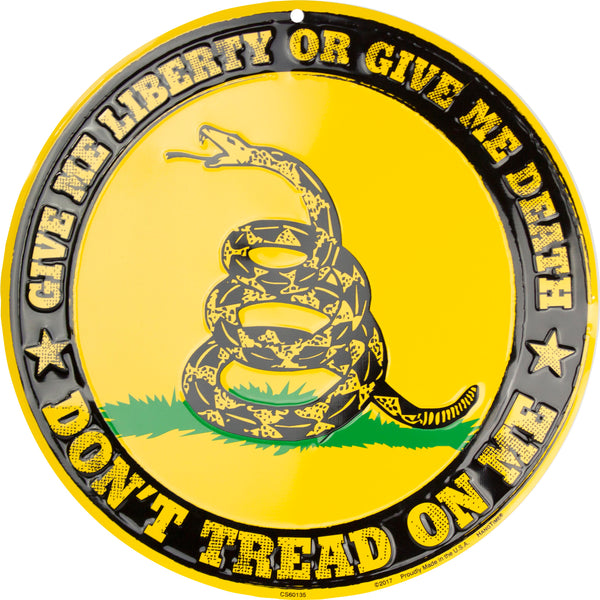 CS60135  - Don't Tread On Me Circle Sign
