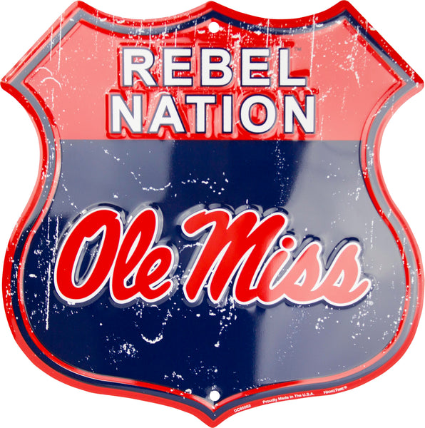 DC85052 - Rebel Nation Ole Miss Shield
