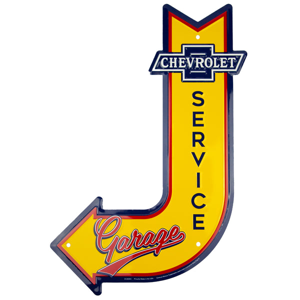 DC85063 -Chevrolet Service Garage J Arrow Signs