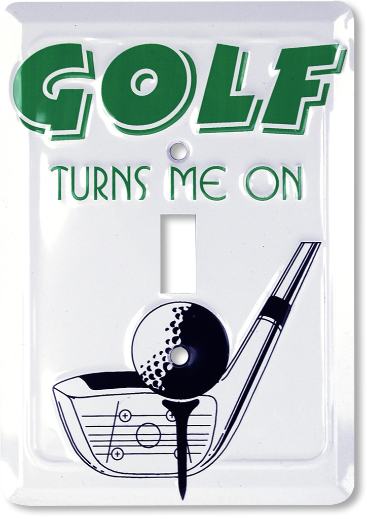 LS10052 - Golf Turns Me On Light Switch