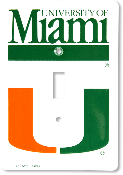 LS10071 - Miami Hurricanes Light Switch