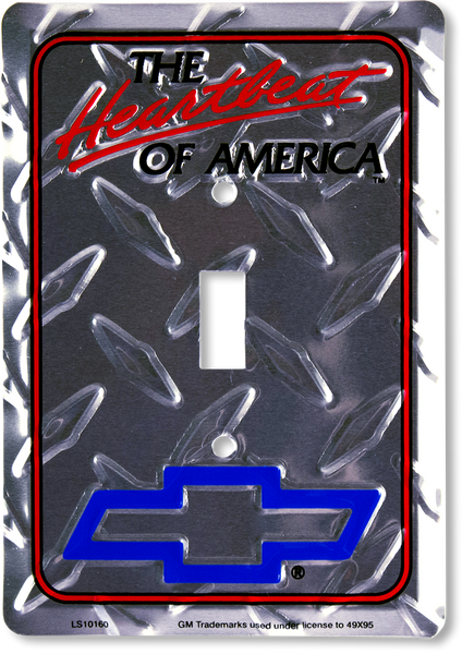 LS10160 - Chevrolet, The Heartbeat of America Light Switch