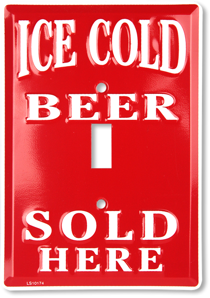 LS10174 - Ice Cold Beer Sold Here Light Switch