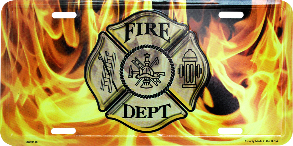 MC50146 - Firefighter Maltese Cross w/Flames