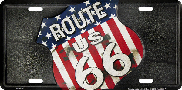 MC50160 - Route 66 American Shield Plate