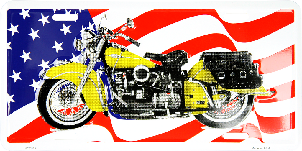 MC52113 - American Flag w/Motorcycle