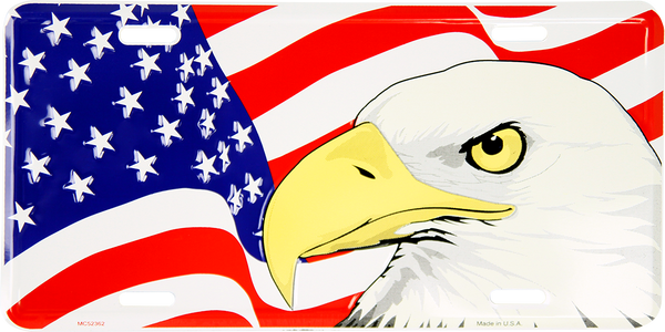 MC52362 - Eagle w/American Flag Background