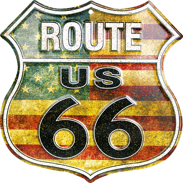 MC85032 - Route 66 American Shield